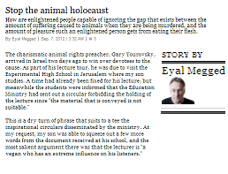 Stop the animal holocaust | Haaretz Daily Newspaper